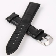 neway Leather Watch Band Wrist Strap 16mm 18mm 20mm 22mm 24mm 316L Steel Rose Gold Buckle Replacement Bracelet Belt Black Brown недорого