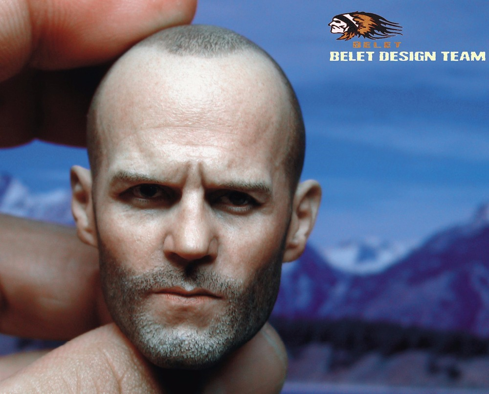 1:6 scale male Figure accessories Fast & Furious Deckard Shaw Jason Statham head shape carved for 12 Action figure doll brand new 1 6 scale fast