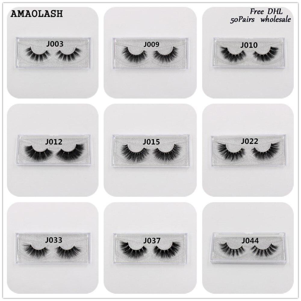 AMAOLASH 50 пар накладных ресниц 3D норки ресницы расширение макияж ресниц норки естественно длительный объем ресницы бесплатная DHL