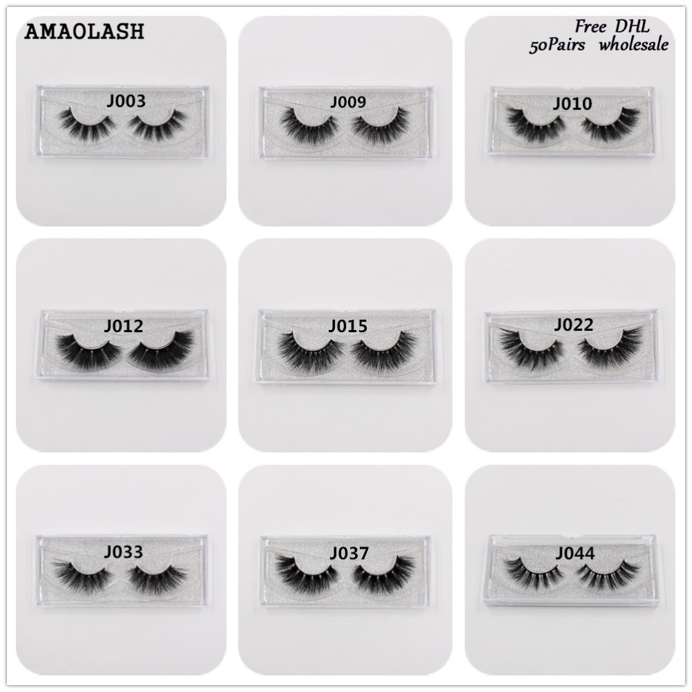 цена AMAOLASH 50Pairs False Eyelashes 3D Mink Lashes Extension Makeup Mink Eyelash Natural Long Lasting Volume Eye lashes Free DHL