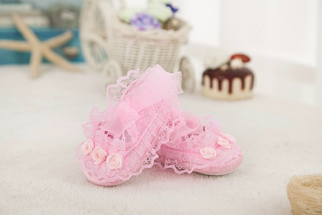 New Infant First Walker Fashion White Baptism Girls Baby Shoe Soft Lace Kids Ballerina Shoes for 0-2 years
