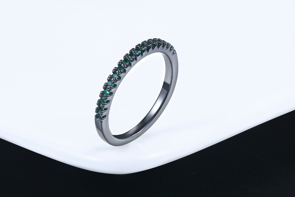 Wedding Ring For Women Man Concise Classical Multicolor Mini Cubic Zirconia Rose Gold Color Fashion Jewelry R132 R133 ZHOUYANG 18