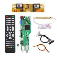 Signal numérique Dvb-S2 dvb-c Dvb-T2/T Atv universel Lcd Tv contrôleur carte pilote mise à niveau Usb Play D3663Lua