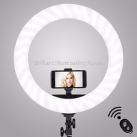 GVM 18 Dimmable LED Photography Selfie Ring Light With Tripod 55W Studio Lighting Kit For Makeup Youtube Video Camera Portrait