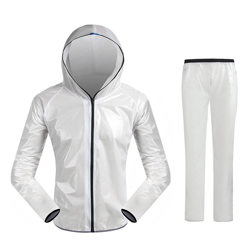 Unisex Super Light Hooded Split Sport Clothes Waterproof Raincoat Riding Bicycle Bike Cycling Rain Suit Jerseys ai speed europe outdoor riding mountain bike cycling clothes ultra thin breathable split poncho raincoat portable