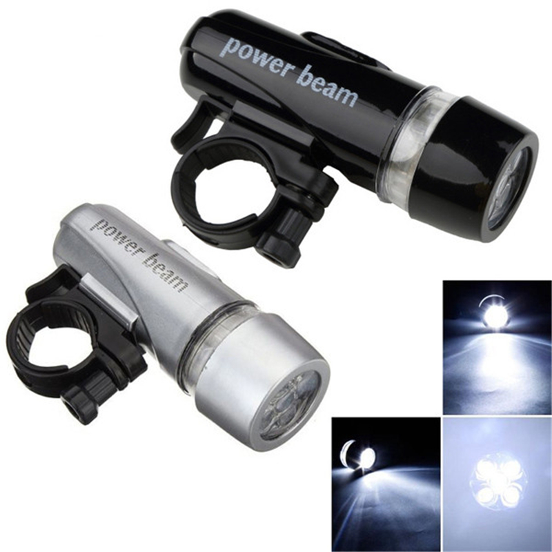 5 white bright LEDs Power Beam Front Light Head Light Torch Lamp for Bicycle Hot Sale with cycling holder/bicycle flashlight(China (Mainland))