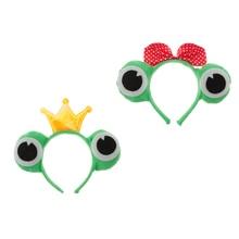 2x Cosplay Headband Party Animals Costume Frog Headdress Fabric Hair Accessory Christmas Fancy Dress Costumes кошелек fabric animals
