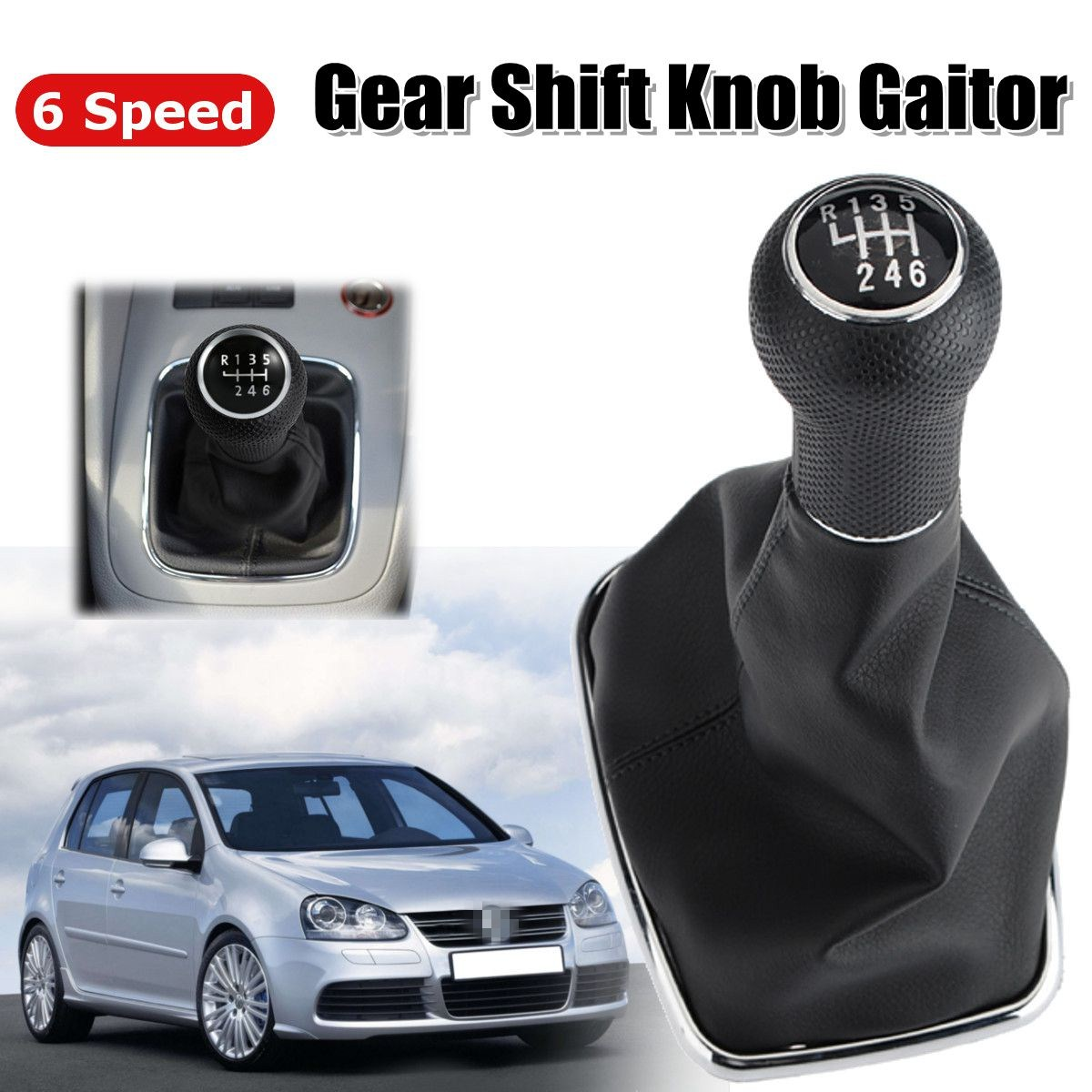 Atv,rv,boat & Other Vehicle 2019 Latest Design Gear Knob Shift Boot No Base Frame 5 Speed For Jetta Bora Mk4