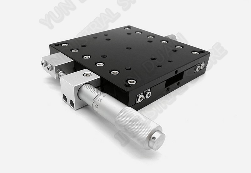 Micrometer Manual Sliding Table 90 90mm X Axis High precision Displacement Platform Cross Roller Guide Way