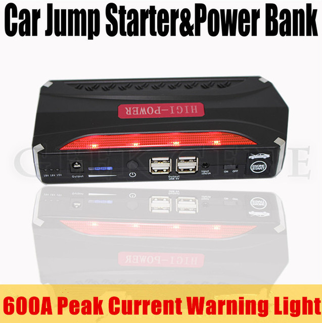 Portable Mini 12000mAh Petrol Diesel 12V Car Jump Starter Best 4USB Power Bank 600A Peak Car Battery Charger SOS Light Free Ship