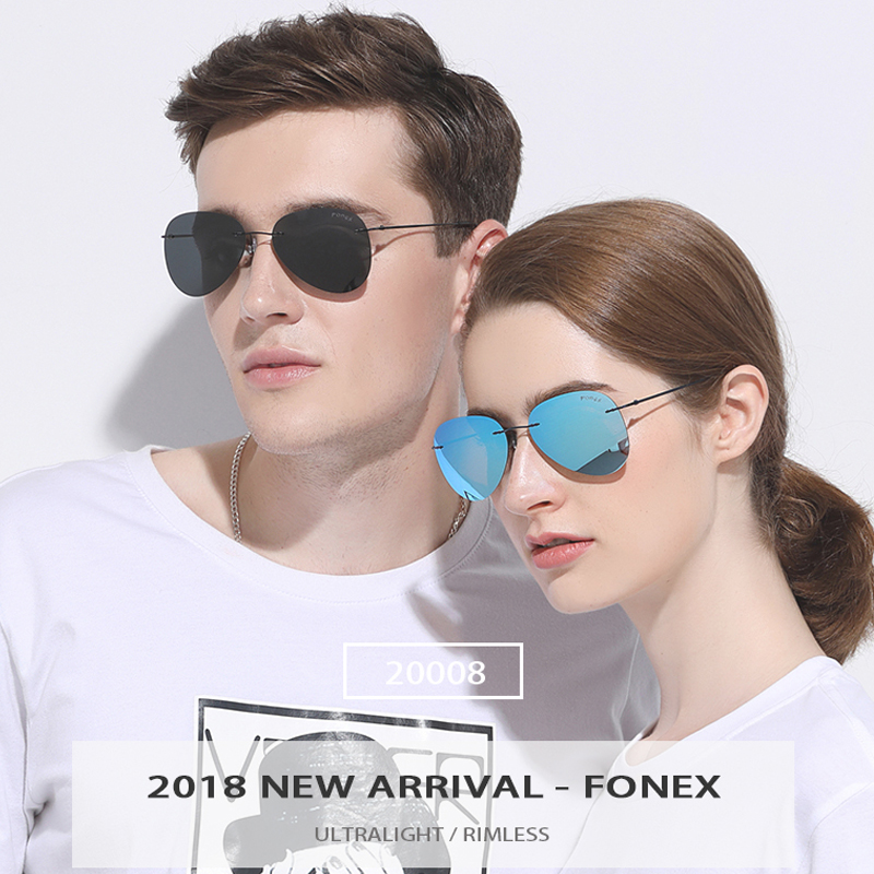 Image 2 - Rimless Sunglasses Titanium Men Brand Designer Ultralight Male 2018 New Light Frameless Aviation Polarized Sun Glasses for Women-in Women's Sunglasses from Apparel Accessories