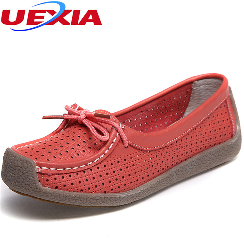 Summer womens flats hollow out comfortable loafers women shoes female casual shoe round toe chaussure femme Slip on Ballet Flats cresfimix zapatos women cute flat shoes lady spring and summer pu leather flats female casual soft comfortable slip on shoes