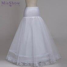 100% High Quality A Line 1 hoop Tulle Wedding Bridal Petticoat Underskirt Crinolines for Wedding Dress Free Size Crinoline 2019
