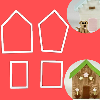 Top Quality   House Frame Plastic Fondant Sugarcraft Cutter Cake Mold Decorating Tools Bakeware Маникюр