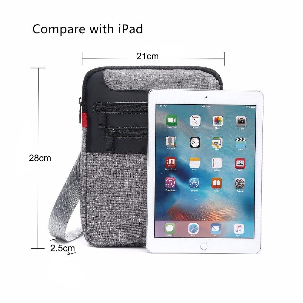 Zebella Casual Mens Messenger Shoulder Bag para iPad Satchel Nylon - Bolsos - foto 5