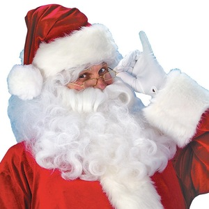 Image 2 - 7pcs Costume di Babbo natale Cappello Di Natale Babbo natale Cosplay Insieme Del Vestito + Hat + Barba + Top + Pantaloni + cintura + Guanti + Stivali di Pelle