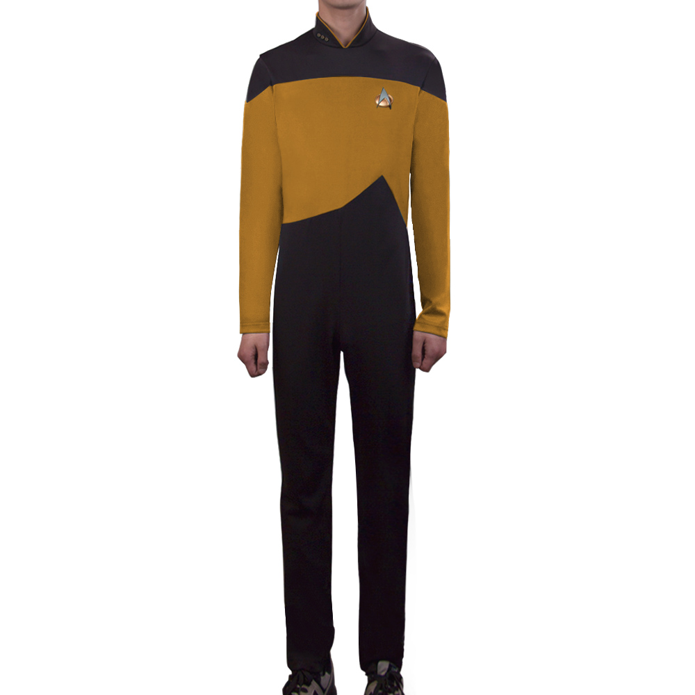 Star Trek Yellow Jumpsuit Unisex Adult Cosplay Costume Halloween Uniform