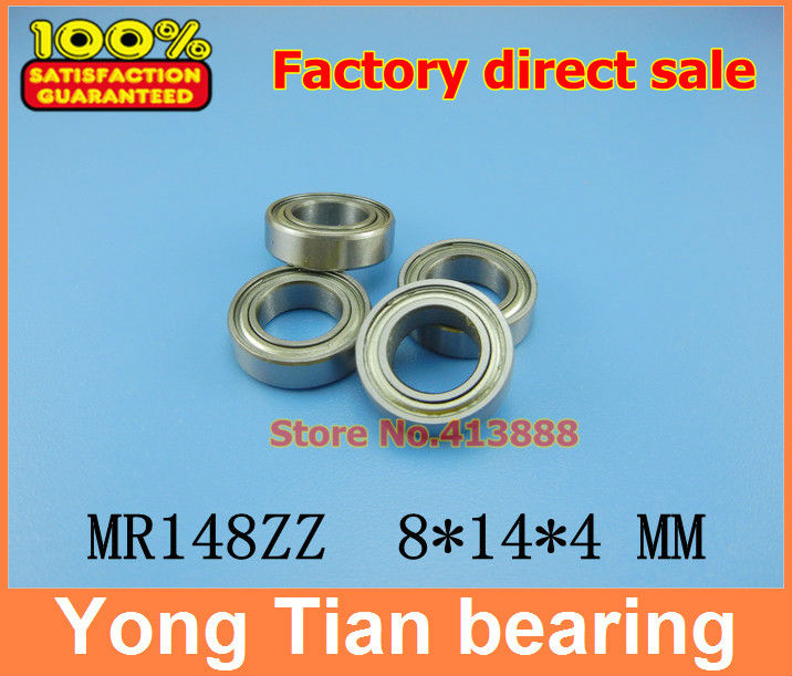 NBZH free shipping Wholesale Double Shielded Miniature Ball Bearings <font><b>MR148ZZ</b></font> <font><b>8*14*4</b></font> mm 500 pcs/lot image