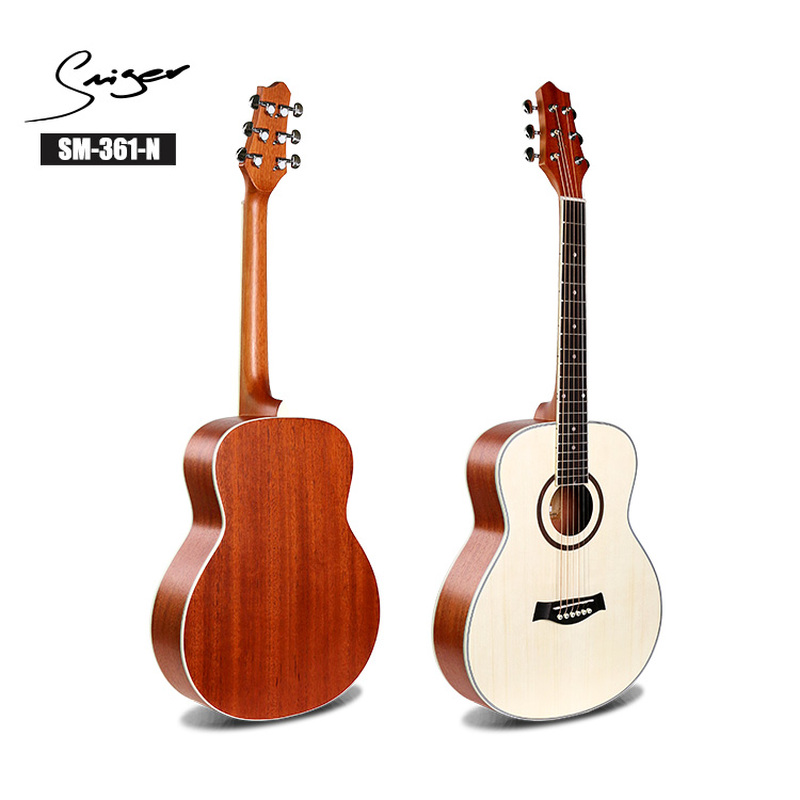 Travel <font><b>Guitar</b></font> Acoustic Electric Steel-String <font><b>36</b></font> Inch Mini-Body Guitarra 6 Strings Folk Pop Install Pickup <font><b>Guitars</b></font> Sapele Spruce image