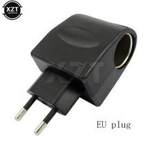 Hot Car Cigarette Lighter Charger Wall Socket Plug Adapter Converter 220v Ac To 12v Dc Eu Us