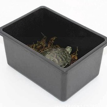 2 pieces / pack Reptile terrarium Plastic cover is not fragile reptile supplies Turtle hamster feeding box