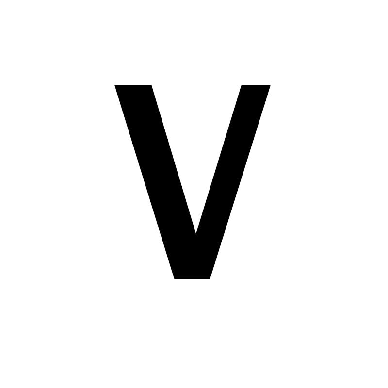 Унисекс, золото, серебро, цвет, A-Z, 26 букв, первоначальное имя, кольца для мужчин и женщин, геометрический сплав, креативные кольца на палец, ювелирные изделия - Цвет основного камня: V