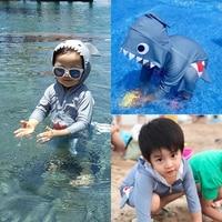 Girls Swimsuit Toddler Boys Swimwear Summer Baby Swimwear Kids Bathing Suit Shark Print Clothes Girl Hooded