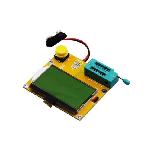 LCR-T4 Mega328 M328 Multimeter LCD Backlight Transistor Tester Diode Triode Capacitance ESR Meter 12864 Display MOS PNP NPN LCR