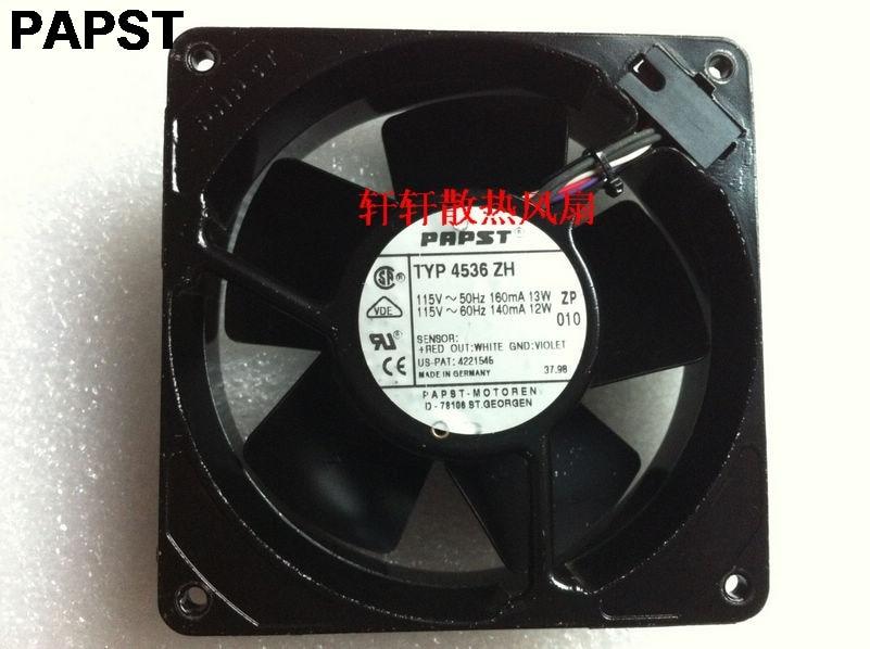 papst typ 4536 zh 12038 119x119x38 mm 115V 50/60HZ 13/12W all full metal high tempreture cooling fan delta 12038 12v cooling fan afb1212ehe afb1212he afb1212hhe afb1212le afb1212she afb1212vhe afb1212me