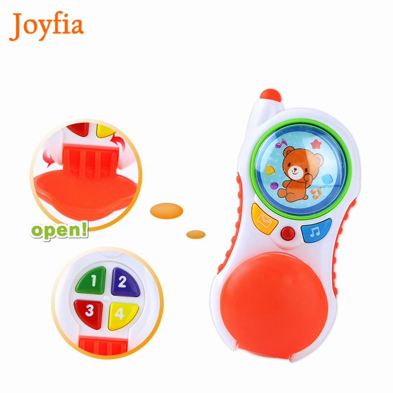 Electronic Toy Phone Kid Mobile Phone Cellphone Telephone Educational Learning Toys Musical & Flashing Light Baby Infant Toy #