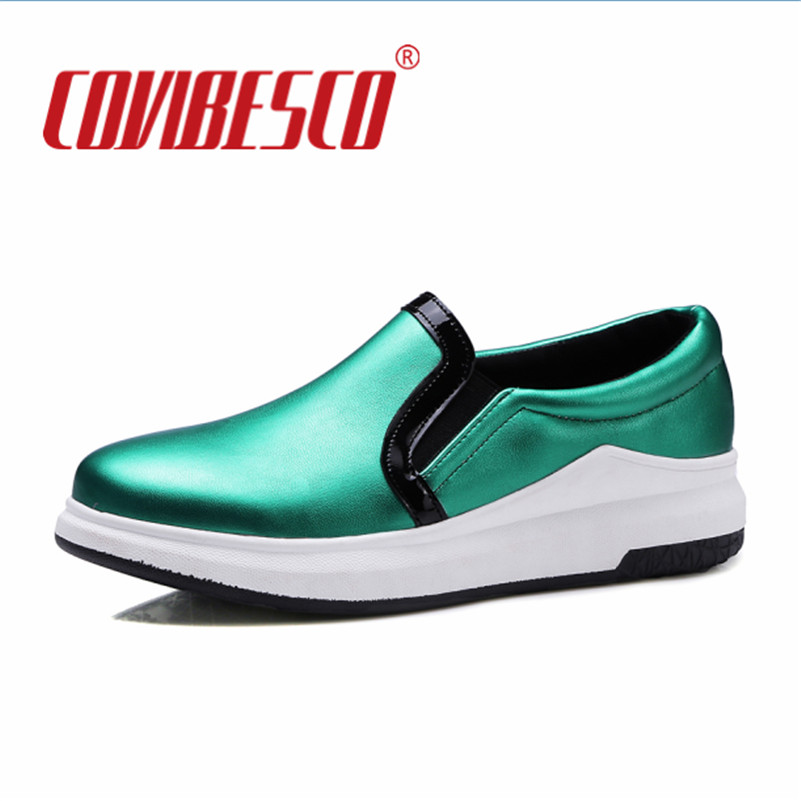 Women Flats Shoe Fashion Casual Slip-ON Soft Loafers Spring Autumn Moccasins Female Driving Shoes Green Gold Comfotable Shoes 2017 autumn fashion men pu shoes slip on black shoes casual loafers mens moccasins soft shoes male walking flats pu footwear