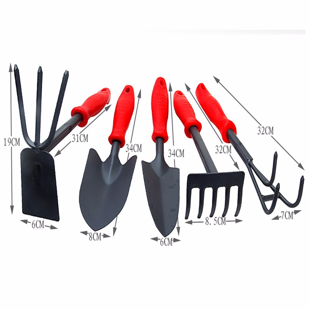 Us 10 04 7 Off Garden Tools Kit Garden Park Size Spade Shovel Rake Hoe Small Hoe Rake Balcony Vegetable Planting Loosen Soil Garden Hand Tools In