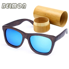 Fashion Wood Polarized Sunglasses Men Women Bamboo Sun Glasses Ladies UV400 Brand Designer Handcrafted For Female Oculos RS217
