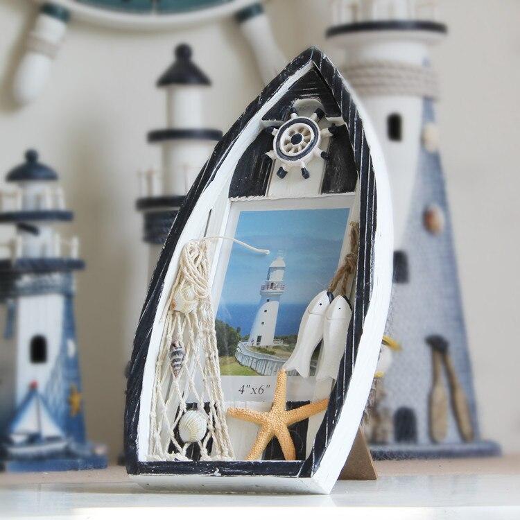 6in schiffsmodell Bilderrahmen Mediterranen stil Holz Bilderrahmen ...
