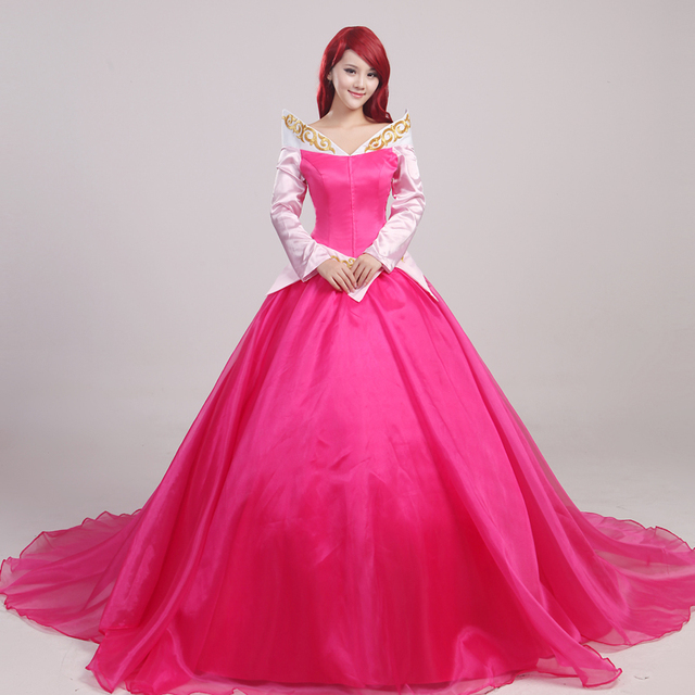 a23716227 Ainiel Custom Made Sleeping Beauty Princess Aurora Cosplay Costume  Halloween and Party Dress Ball Costume for Women and Girl