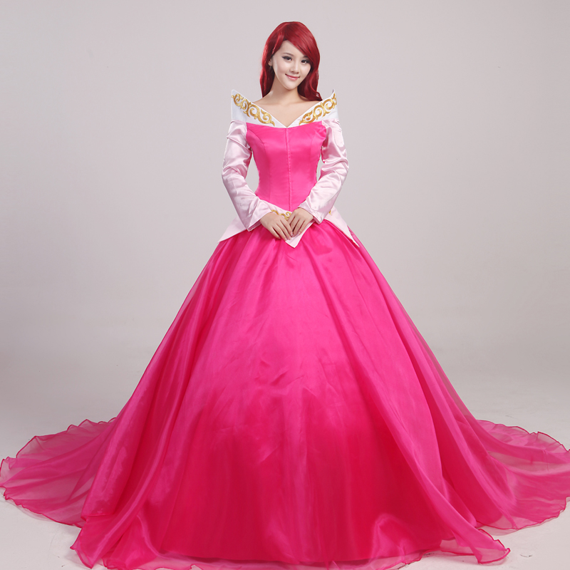 Aniniel font b Cosplay b font Sleeping Beauty Princess Aurora Costume Halloween and Party Dress for