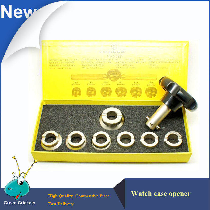 NO.5537 Watch Back Case Opener, 7 SizeTypes Professionele set horloge-reparatietools