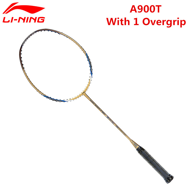 Li-Ning A900T Badminton Rackets Gold Full Carbon Fiber Cheap Lining Racquet AYPH184 With Free Overgrip L724OLC цена