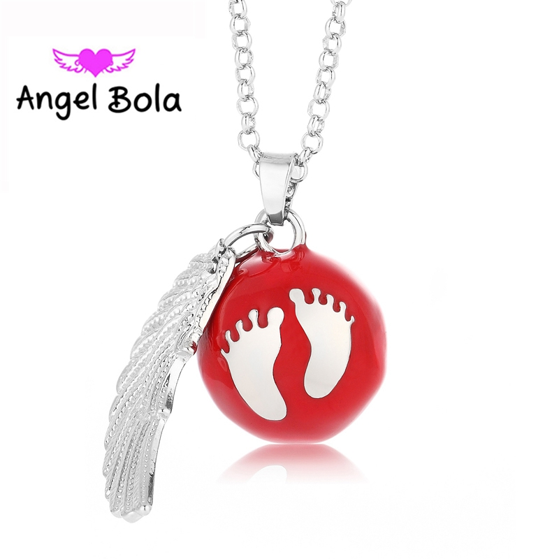 Cute Foot Ball DIY Wing Jewelry 10Pcs Wholesale Engelsrufer Harmony Chime Cage Sound Pendant Angel Bola Necklace L082