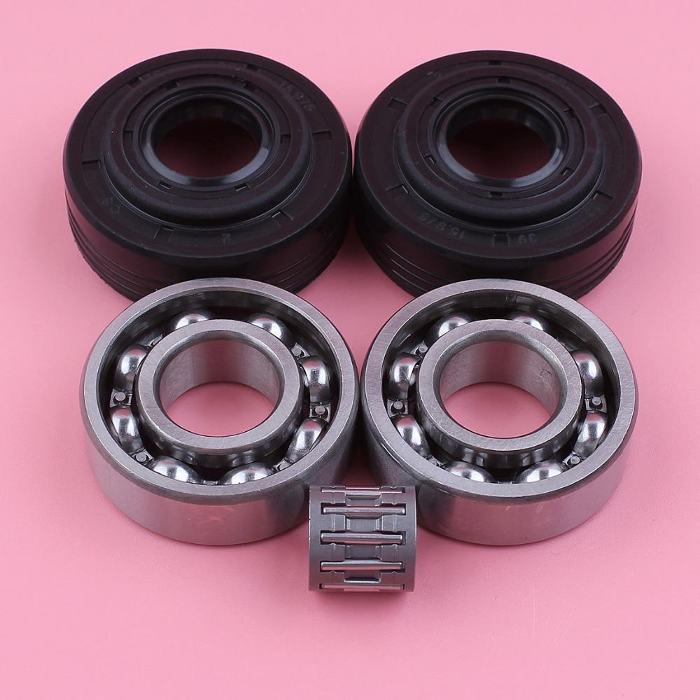 Crankshaft Crank Bearing With Oil Seal Set Kit For Husqvarna 340 345 350 Jonsered 2145 Chainsaw Spare Parts