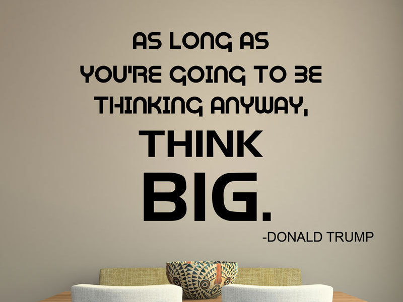 Donald font b Trump b font Quote Vinyl Decal Office Decor Motivational Quotation as long as