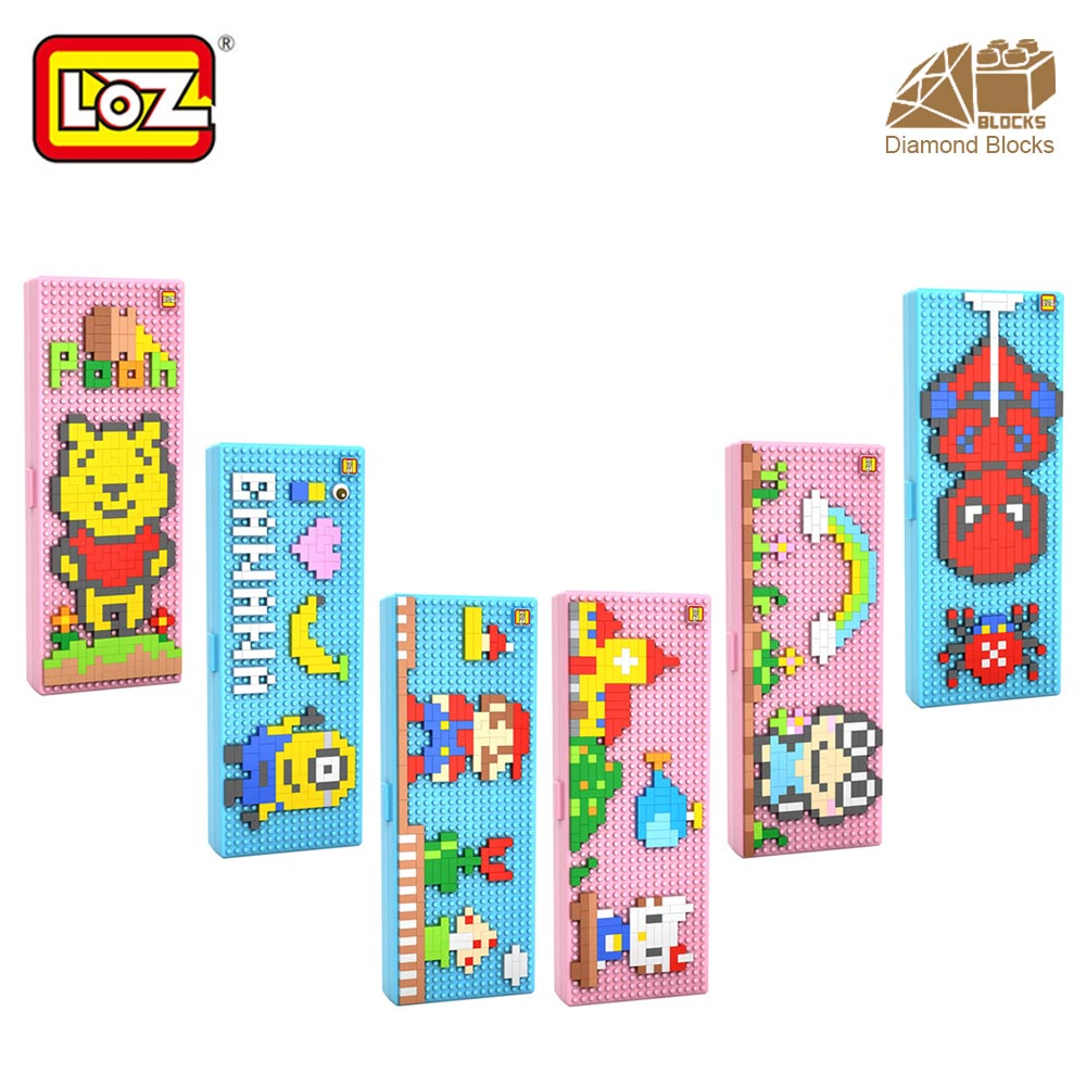 LOZ Diamond Blocks Cartoon Pencil Box Stationery Children's Gifts DIY Mini Building Nano Blocks Pencil Case Toys Children 9096 grizzly рюкзак школьный grizzly