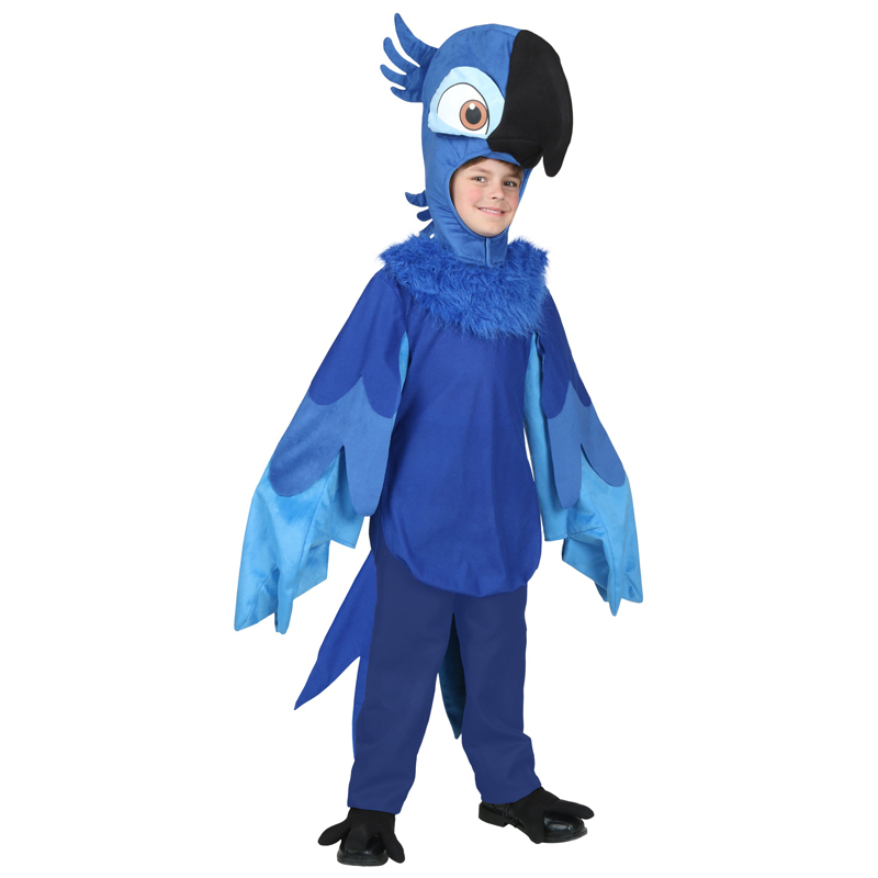 Limited Deluxe Child Rio Blu Parrot Bird Animal Halloween Cosplay Costume
