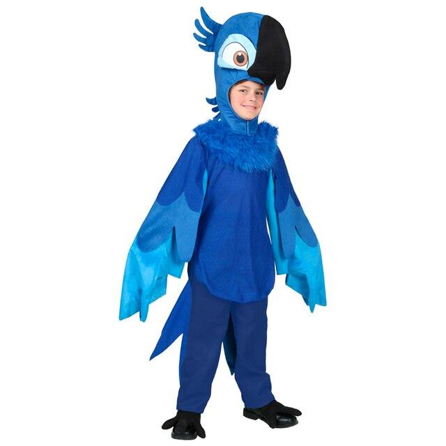 8bcd0c21a50cdc Ograniczona Deluxe Child Rio Blu papuga ptak zwierząt kostium cosplay na  Halloween