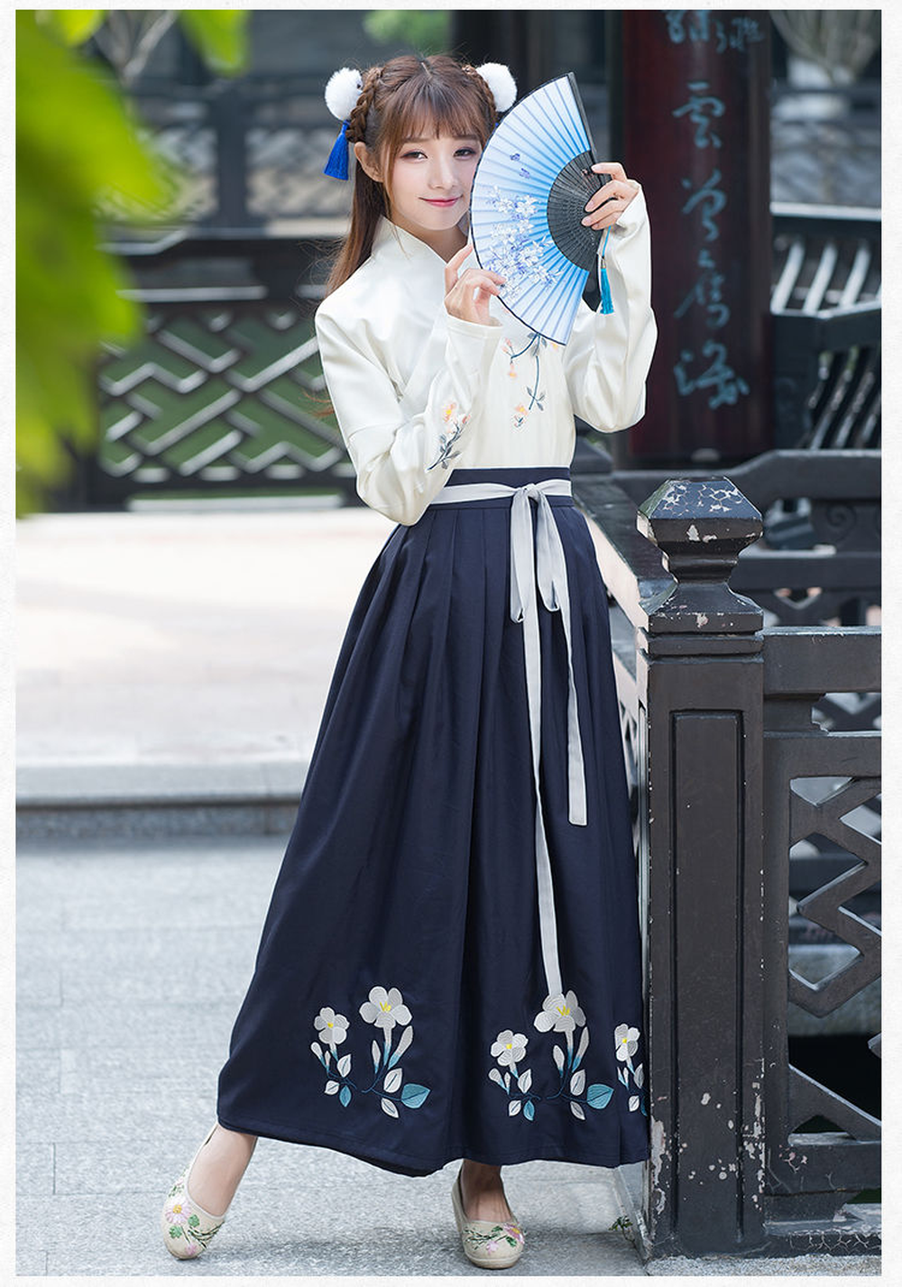 Chinese Ancient Traditional Hanfu Women Fusion Modern Hanbok Tang Dynasty Consum Costume