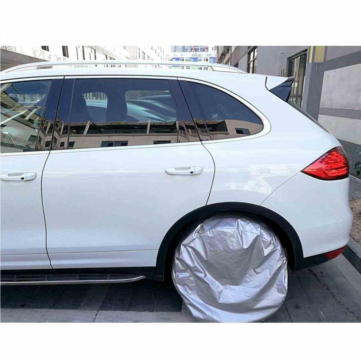 4 sztuk M/L srebrny samochód plandeki koła zapasowego koła pokrowiec na oponę przypadku miękka torba Protector dla SUV Off- pojazd terenowy samochód Protector