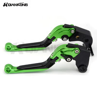 Customized Logo Universal Aluminum Foldable Adjustable Motorcycle Clutch Brake Levers FOR Suzuki GSX S1000 F ABS