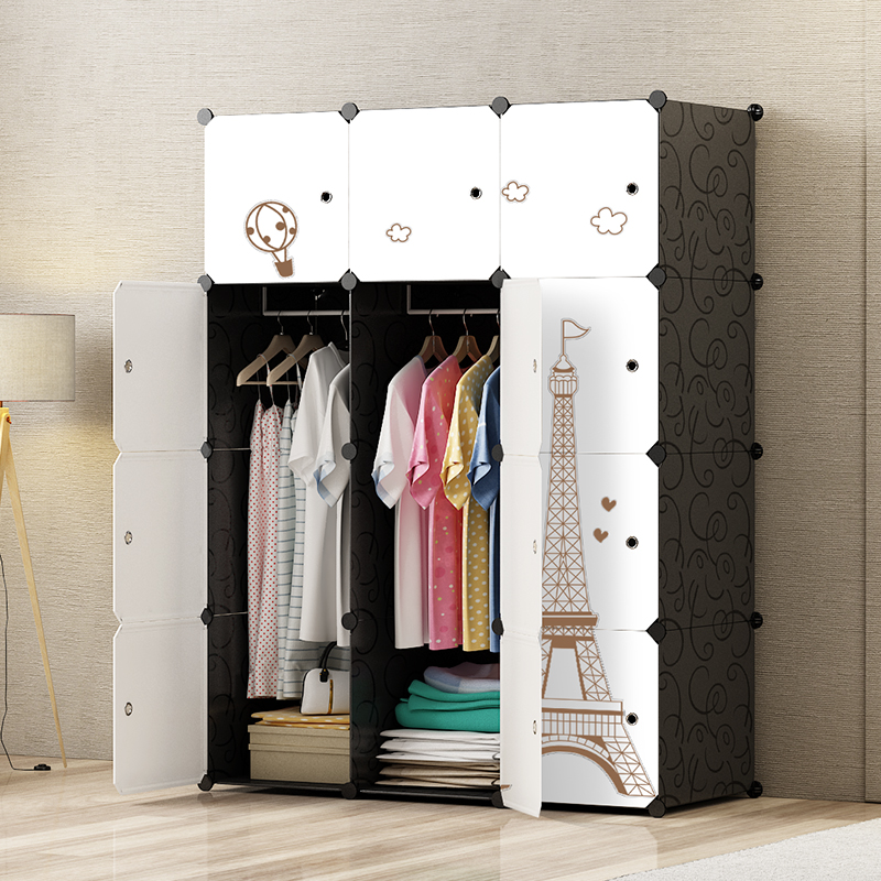 DIY magic piece of plastic storage cabinets Children's wardrobe modern wardrobe assembled resin composition of steel wardrobe 2017 new children s cartoon plastic assembly simple wardrobe lockers storage cabinets resin composition baby for kit child
