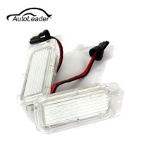 AutoLeader 1 Pair 12 V LED Numer Tablicy Rejestracyjnej Światła Żarówki Lampy Dla Ford/Fiesta/Focus/Kuga/C-MAX/Mondeo Samochodów Auto Światło