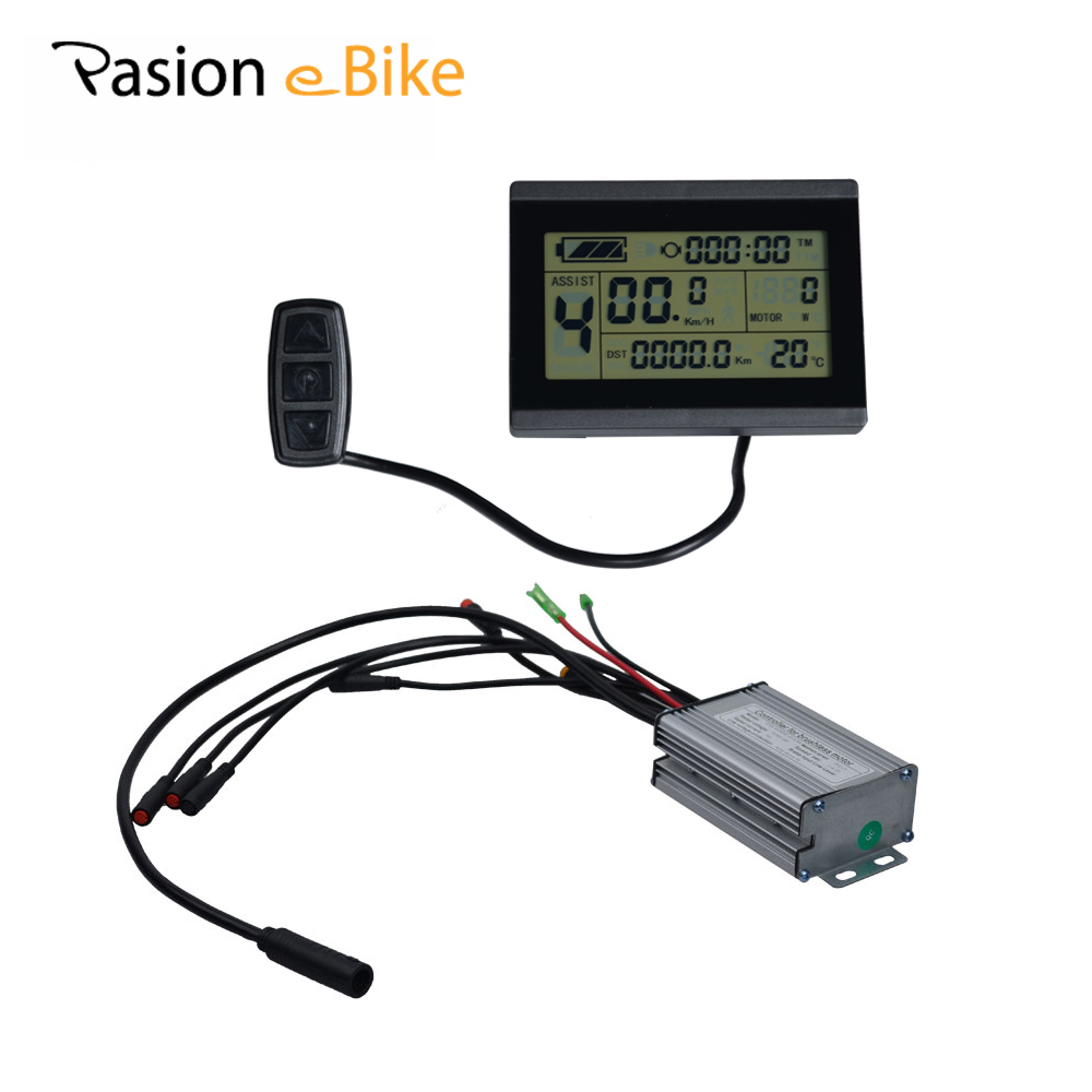 PASION E BIKE 24V 36V 48V Intelligent LCD Control Panel For Electric Fat Bikes LCD Display 25A Controller Sondors eBike Parts